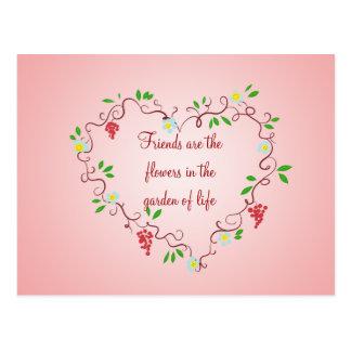 Heart Vines Postcard