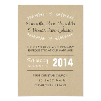 Heart Vines Wedding Invitation