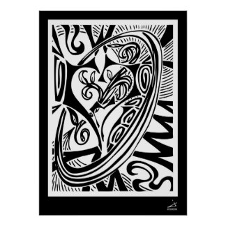 Heart Vines with Border Posters