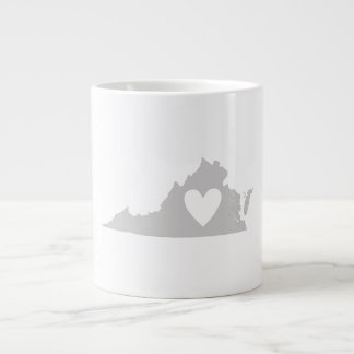 Heart Virginia state silhouette Extra Large Mugs