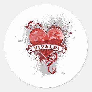 Heart Vivaldi Classic Round Sticker