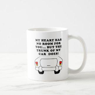 Heart Vs Trunk Funny Mug