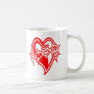 Heart w/ Barb Wire Tattoo Coffee Mug