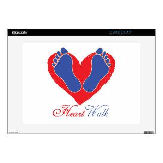"""Heart Walk 15"""" Laptop Decal"""