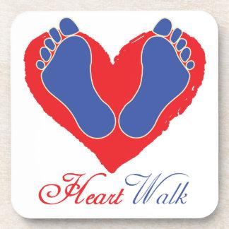 Heart Walk Beverage Coaster