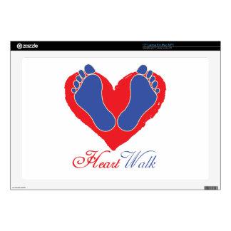 Heart Walk Laptop Decal