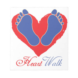 Heart Walk Notepad