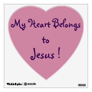 Heart Wall Decal - My heart belongs to Jesus !