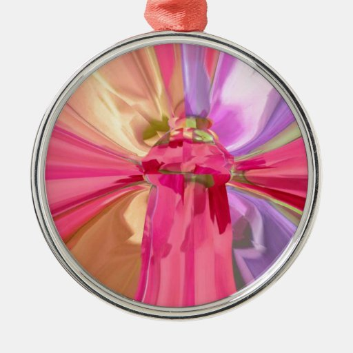 Heart Warming Designs Round Metal Christmas Ornament