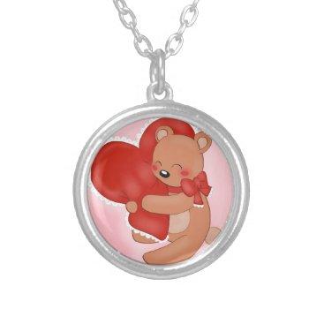 jasmineflynn Heart Warming Teddybear Silver Plated Necklace
