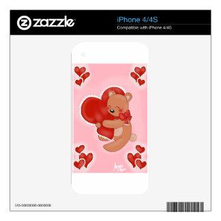 Heart Warming Teddybear Skin For The iPhone 4S