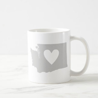 Heart Washington state silhouette Coffee Mug