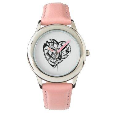 Aztec Themed Heart Watch