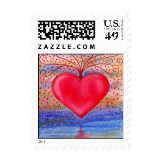 Heart Water Reflection Postage