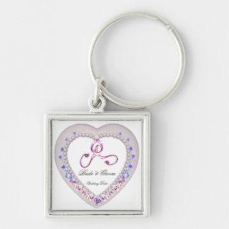 Heart Wedding Keepsake Keychain