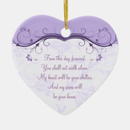 Heart Wedding Love Favor Ornament