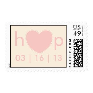 heart wedding monogram postage