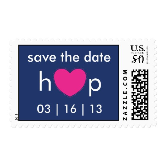 heart wedding postage