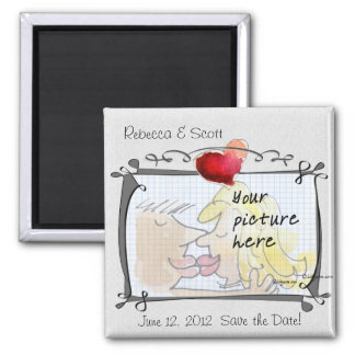 Heart Wedding Save the Date Photo Magnets