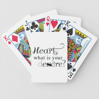 Heart, what is your desire? bicycle playing cards