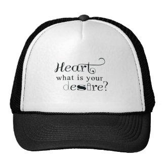 Heart, what is your desire? trucker hat