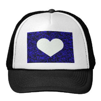 Heart White Blue Trucker Hat