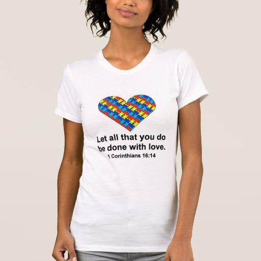 Heart _White_Corinthians T-shirts