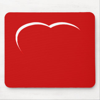 Heart White-Red Curve The MUSEUM Zazzle Gifts Mousepads