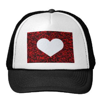Heart White Red Trucker Hat