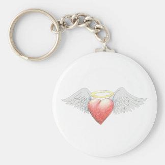 Heart Wing Halo Keychain