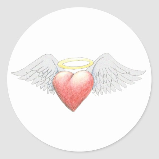 Heart Wing Halo Stickers