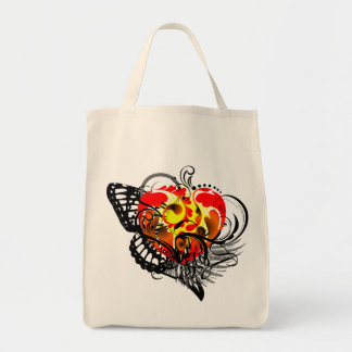 Heart & Wing Tote Bag