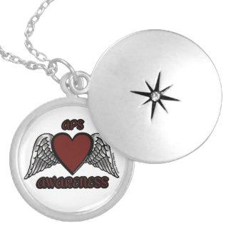 Heart/Wings...APS Locket Necklace