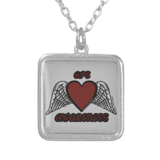 Heart/Wings...APS Silver Plated Necklace
