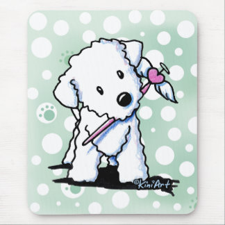 Heart Wings Bichon Frise Mouse Pad