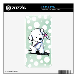 Heart Wings Bichon Frise Decal For iPhone 4S