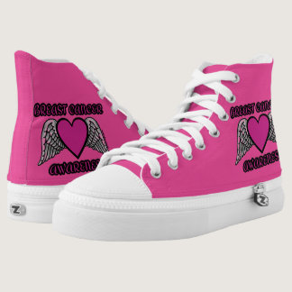 Heart/Wings...Breast Cancer High-Top Sneakers
