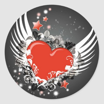 Keywords: love, heart, wings, stars, Valentine's Day