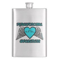 Heart/Wings...Dysautonomia Hip Flask
