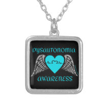 Heart/Wings...Dysautonomia Silver Plated Necklace