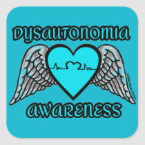 Heart/Wings...Dysautonomia Square Sticker