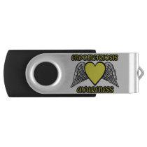 Heart/Wings...Endometriosis Flash Drive