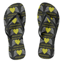 Heart/Wings...Endometriosis Flip Flops