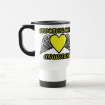 Heart/Wings...Endometriosis Travel Mug