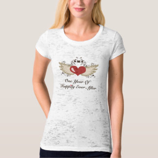 Heart Wings First Year Anniversary Burnout T-shirt