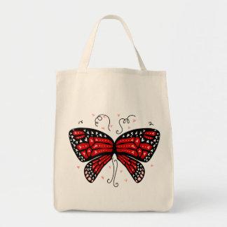 Heart Wings Grocery Tote Bag
