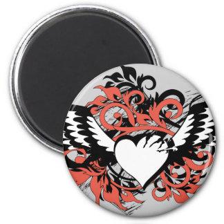 heart&wings imán redondo 5 cm