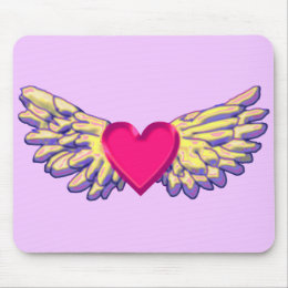 heart Wings Mouse Pad