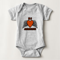 Heart/Wings...MS Baby Bodysuit