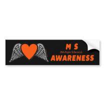 Heart/Wings...MS Bumper Sticker